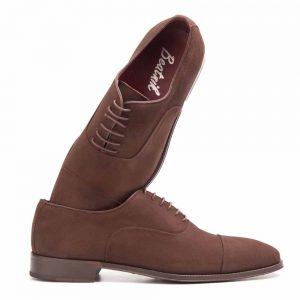 Corso zapato estilo Oxford en ante marrón estilo casual