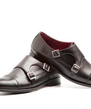 June Monk strap negro para mujer por Beatnik Shoes