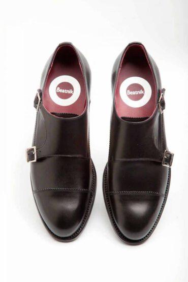 June zapato Monk negro para mujer Beatnik Shoes