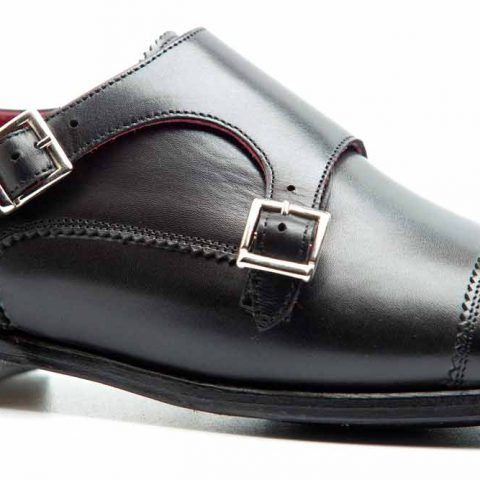 Zapato de dos hebillas negro para mujer June por Beatnik Shoes
