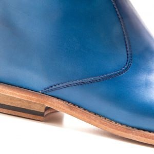 Blue leather low heel ankle boot for women Astrud by Beatnik ShoesBlue leather low heel ankle boot for women Astrud by Beatnik Shoes