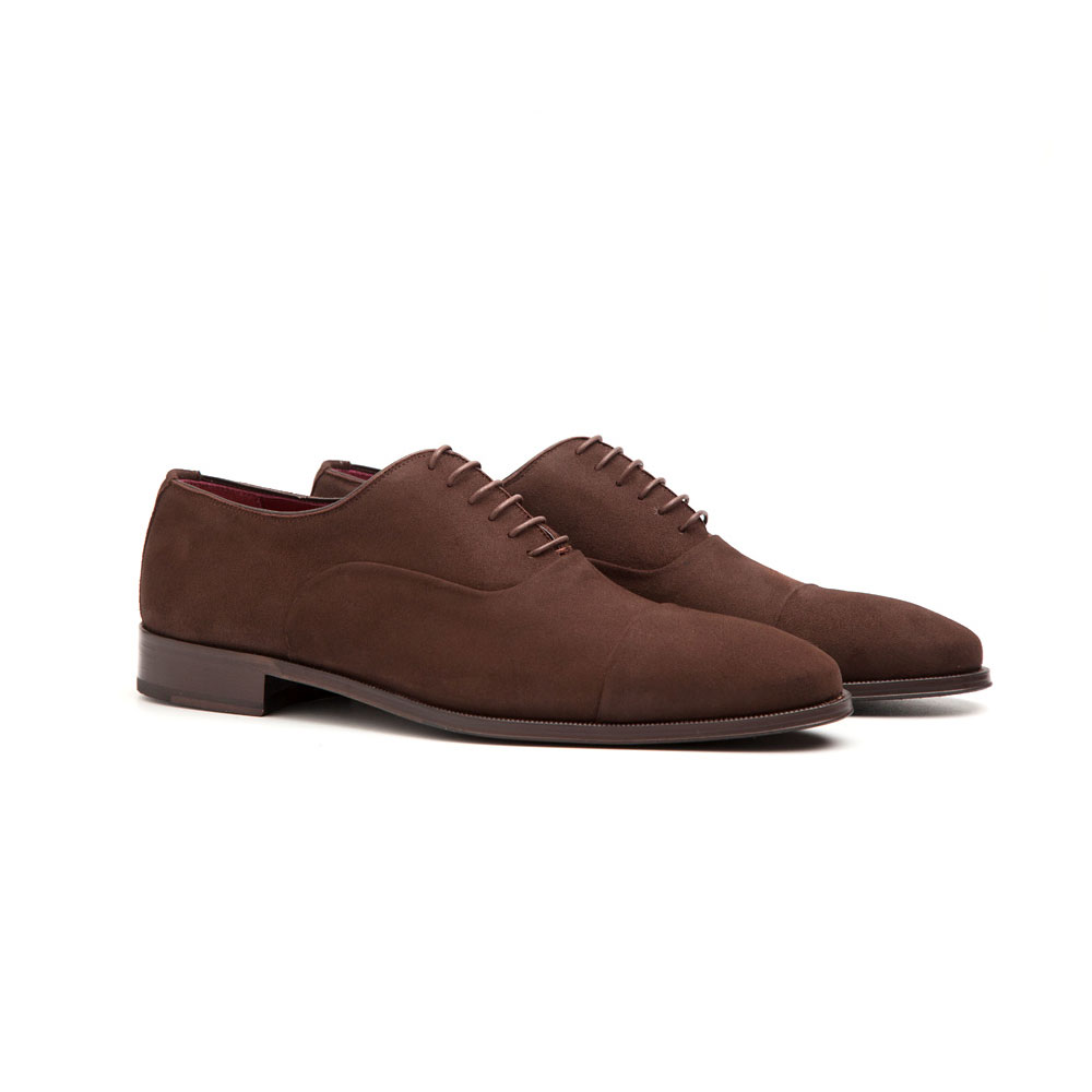 eb9bd0efec Brown suede Oxford shoes for men Corso - Handmade in Spain by ...