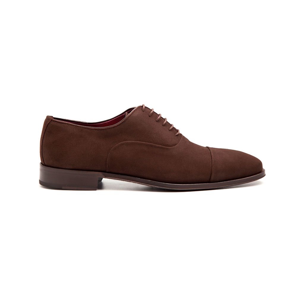 bc83f132ae10c0 Brown Suede business casual Oxford shoes style for men Corso handmade in  Spain by Beatnik Shoes