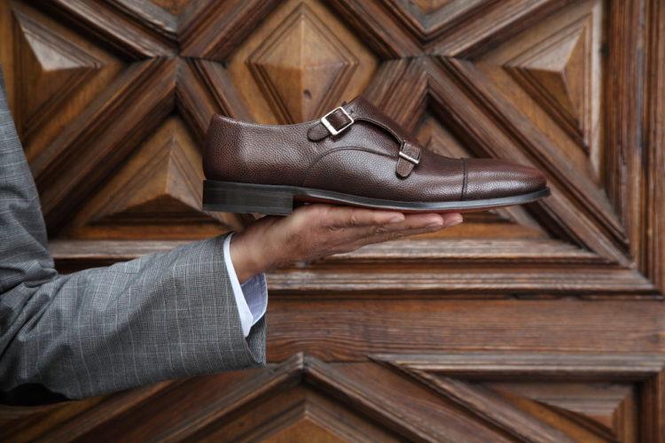 Beatnik Lamantia Brown Monkstrap Shoes