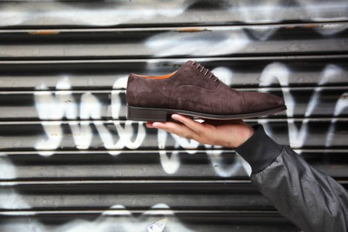 Chaussures Oxford pour hommes en daim brun Beatnik Corso Brown
