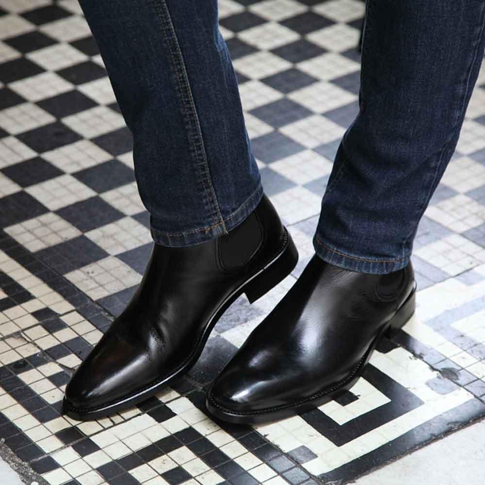 dbfd32f05ea Botas Chelsea negras para hombre Cassady Black hechas a mano en España por  Beatnik Shoes
