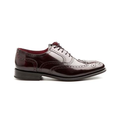 Oxford brogue rojo de hombre por Beatnik Shoes