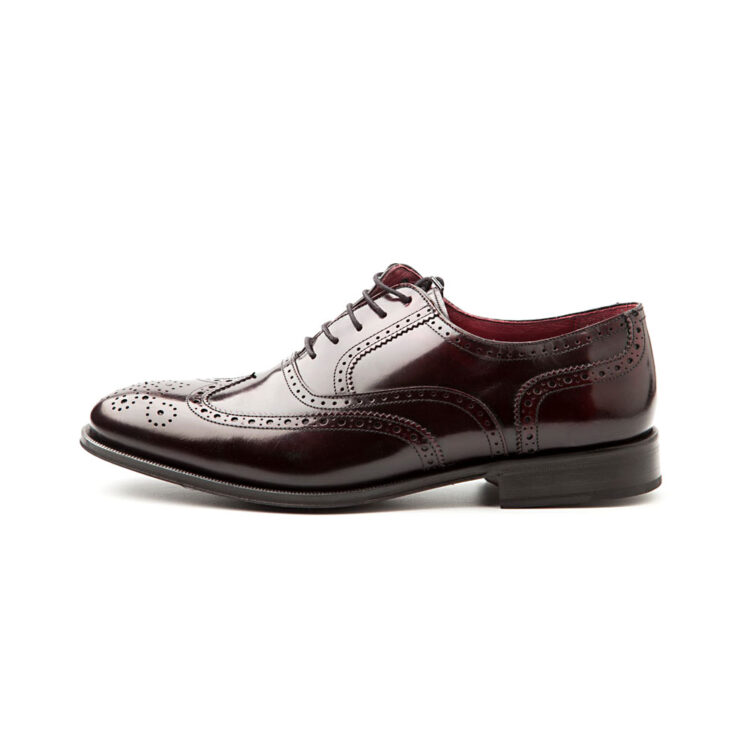 Oxford brogue rojo de hombre por Beatnik Shoes