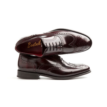 Dress Brogue in Red for men Holmes by Beatnik Shoes