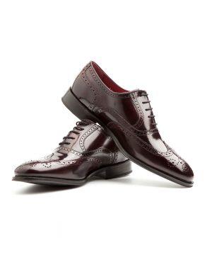 Zapato Oxford rojo masculino por Beatnik Shoes