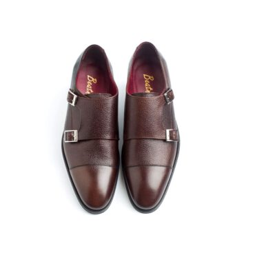 Beatnik Lamantia Brown Monkstrap Shoes