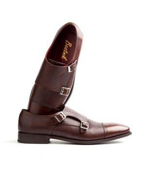 Zapato monk marrón de hombre Lamantia Brown por Beatnik Shoes