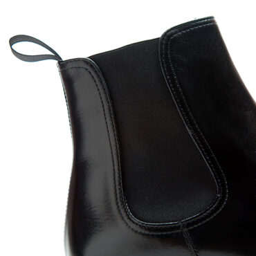 Black Leather Chelsea boots for men Cassady by Beatnik Shoes