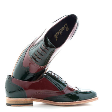 Lena OXFORDS bicolor para mujer en charol por BEATNIK SHOES