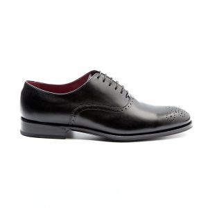 Kaufman zapato formal Oxford legate de hombre Semi brogue negro por Beatnik Shoes