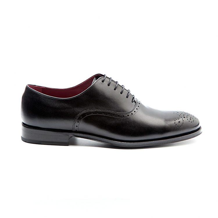 Kaufman zapato formal Oxford legate de hombre Semi brogue negro por Beatnik Shoes