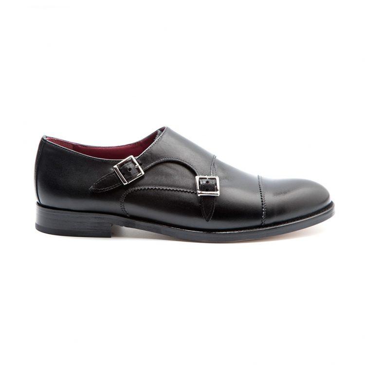 June zapato dos hebillas femenino negro por Beatnik Shoes