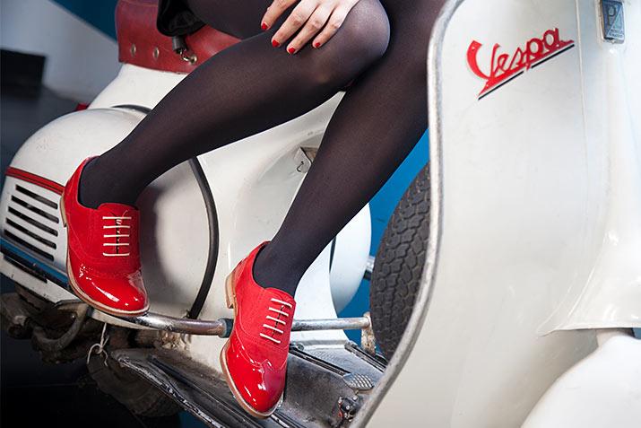 Lena zapato estilo OXFORD ROJO Mujer BEATNIK SHOES