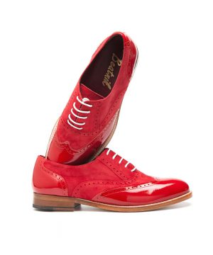 Lena Too red Oxford mujer por Beatnik shoes