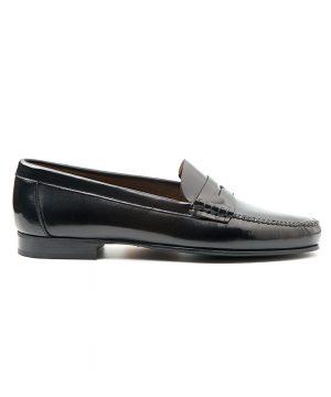Loafer negro de antifaz para mujer Fontella por Beatnik Shoes