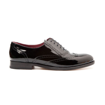 Lena Pure black Oxford mujer por Beatnik Shoes