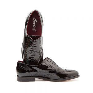 Lena Pure black Oxford mujer por Beatnik Shoes