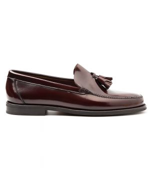 McClure loafer de hombre rojo de borlas por Beatnik Shoes