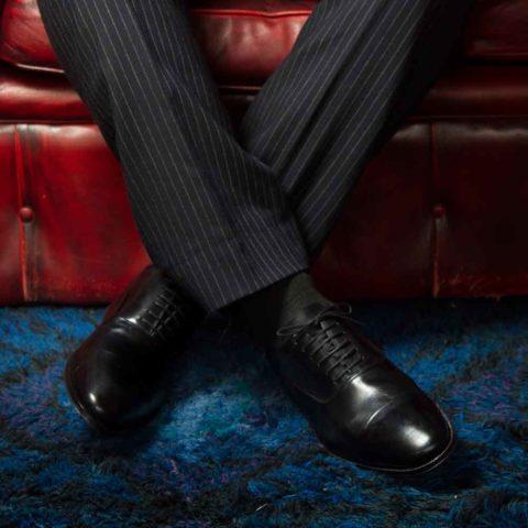 Zapato de vestir  Oxford negro Miller para hombre por Beatnik Shoes