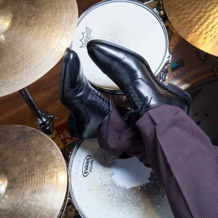 Zapato de vestir con cordones Oxford negro Miller para hombre por Beatnik Shoes