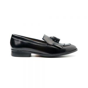 Tammi mocasines negros de mujer por Beatnik Shoes