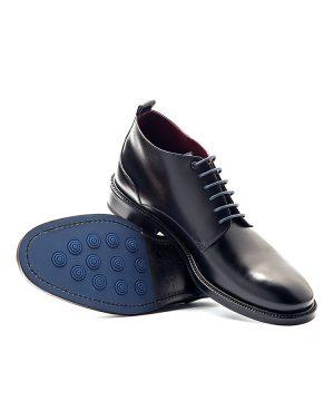 Botines negros con cordones para hombre Dylan por Beatnik Shoes