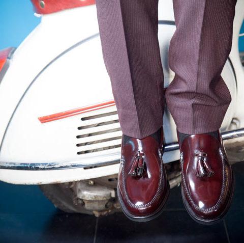 Mocasines burdeos de hombre McClure por Beatnik Shoes