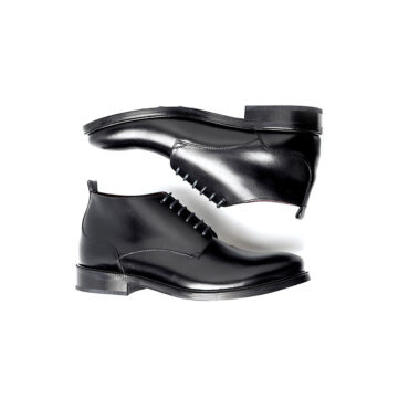 Black leather lace up ankle boots for men Dylan Handmade in Spain by Beatnik Shoes