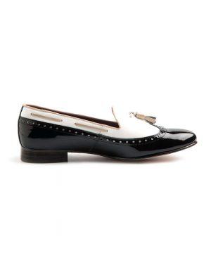 bailarina bicolor blanca y negra en charol beatnik shoes shoes