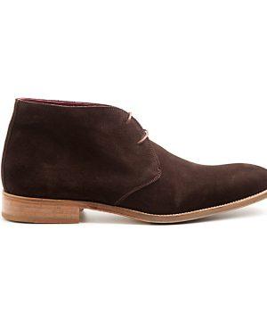 Bota del desierto para hombre en ante marrón oscuro por beatnik shoes