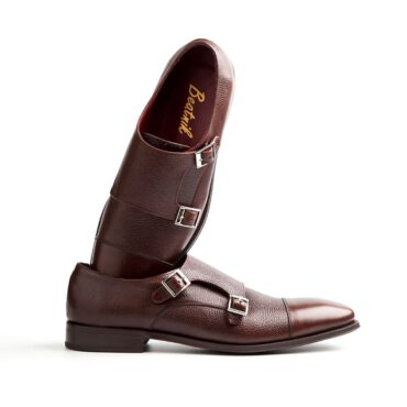 Brown monk shoe for men by Beatnik Shoes