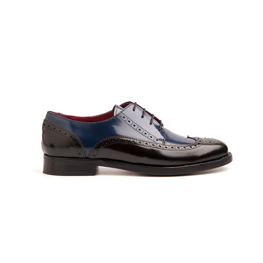 Ethel Bicolor amp; Mujer Black Blucher Blue De Cftxq