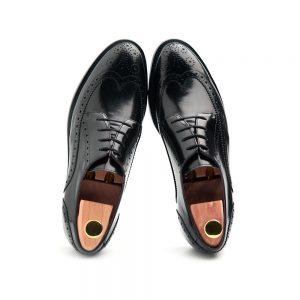 zapato de cordones en piel negra mujer Ethel