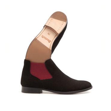 Ella Black Purple botines Chelsea mujer ante negro Beatnik Shoes