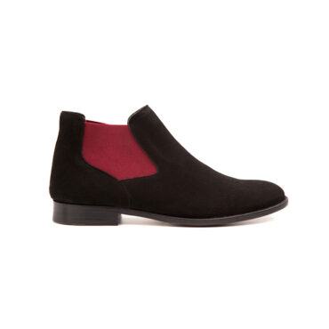 Ella Black suede chelsea ankle boots Ella by Beatnik Shoes