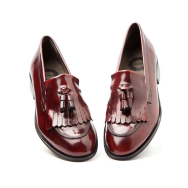 Womens burgundy tassel loafers for women Tammi