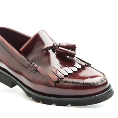 Tassel Loafer de hombre burdeos Henry por Beatnik Shoes