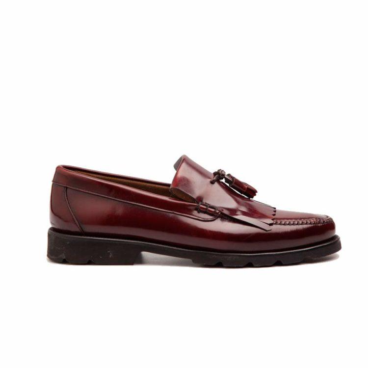 Tassel loafer rojo para hombre Beatnik Henry