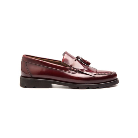 Tassel Loafer de hombre burdeos Henry por Beatnik Shoes