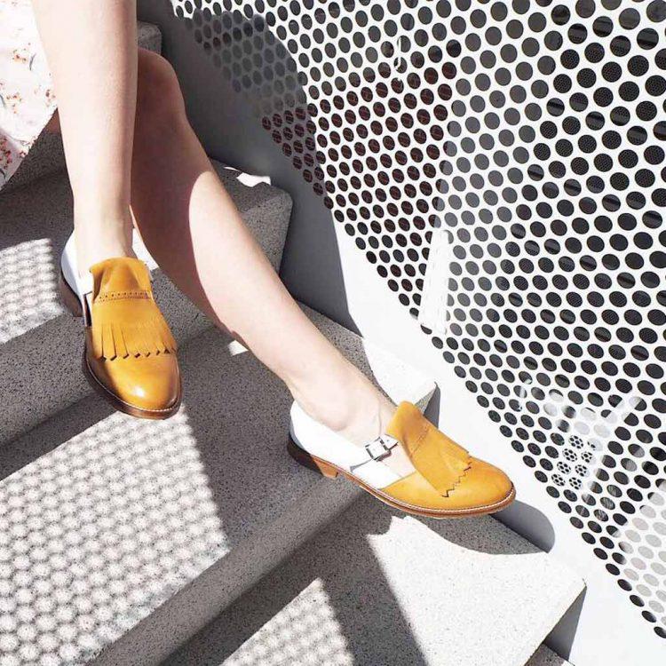 Zapato de hebillas bicolor para mujer Beatnik Brenda Brown