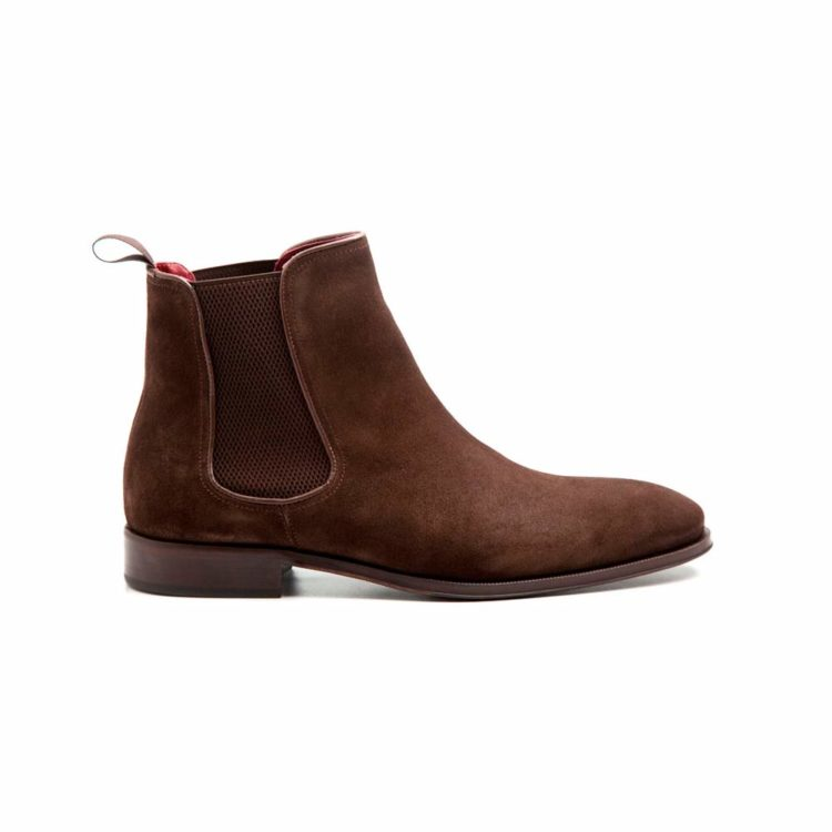 Dark brown suede Chelsea ankle boots for man Cassady Brit Handmade in Spain by Beatnik Shoes