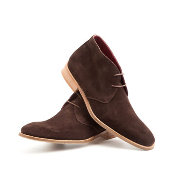 Brown suede desert booties for men Kenneth by Beatnik Shoes