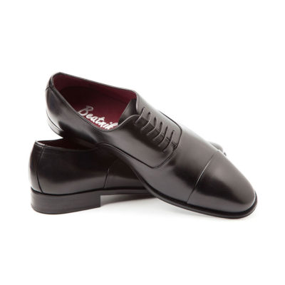 Black Oxford ceremony shoes for men Miller by Beatnik Shoes
