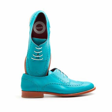 Blucher aguamarina by Beatnik Shoes.