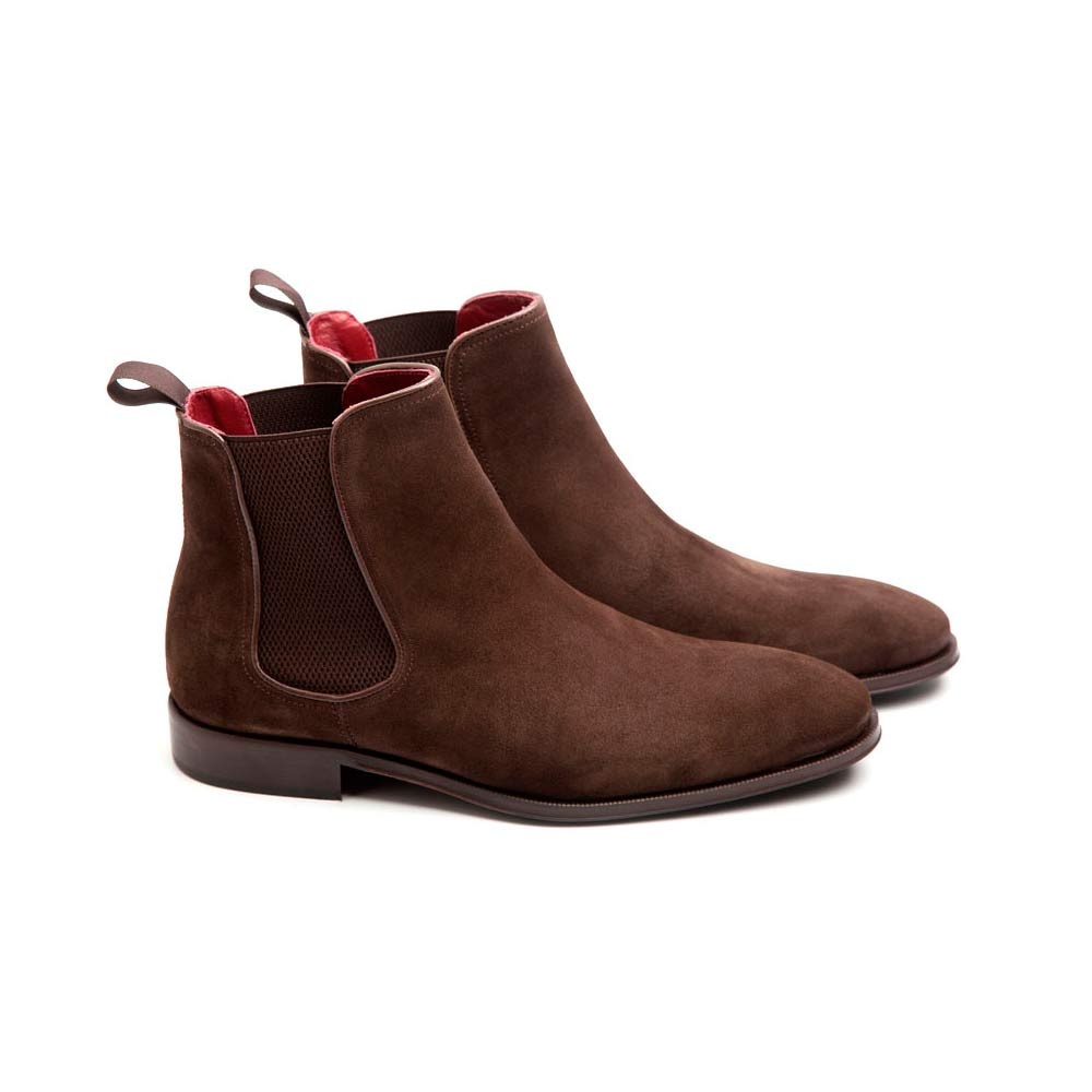 chelsea boots in brown coffee suede cassady brit